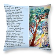All That I Need - Poetry In Art Throw Pillow