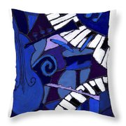 All That Jazz 3 Throw Pillow