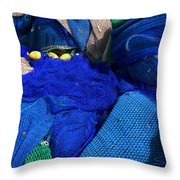 All The Blue Of The Sea Throw Pillow