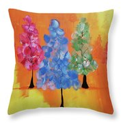 All The Pretty Colors II Throw Pillow