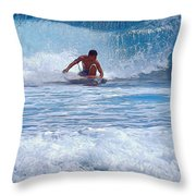 All The Way To Shore Throw Pillow