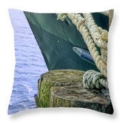 All Tied Up In Port Jefferson No 1 Throw Pillow