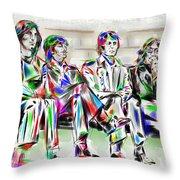 Beatle Love Throw Pillow