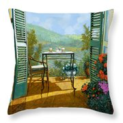 Alle Dieci Del Mattino Throw Pillow by Guido Borelli