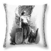 Allegory: Columbia, C1870 Throw Pillow