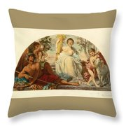 Allegory Of Agriculture Throw Pillow