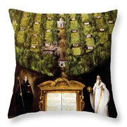 Allegory Of Camaldolese Order 1600 Throw Pillow