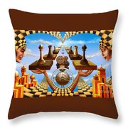 Allegory Of Chess. Equal Exchange Throw Pillow