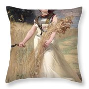 Allegory Of France Throw Pillow