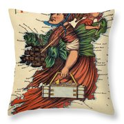 Allegory Of Ireland Throw Pillow