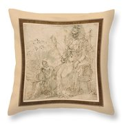 Allegory Of Pride Throw Pillow