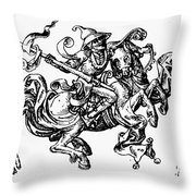 Allegory Of Saturn, 1480 Throw Pillow
