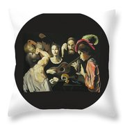 Allegory Of The 5 Senses Throw Pillow
