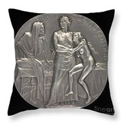 Allegory Of The Fight Against Death [reverse] Throw Pillow