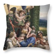 Allegory Of The Virtues Throw Pillow