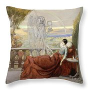Allegory Of Tuberculosis, 1912 Throw Pillow