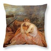 Allegory Of War Throw Pillow