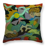 Allegory-the Double Personality Throw Pillow