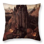 Allegory With A Virgin 1479 80 Hans Memling Throw Pillow