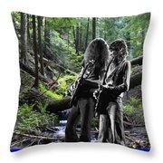 Allen And Steve On Mt. Spokane Throw Pillow