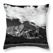 Allen Mountain Towers Over Swift Current Lake Throw Pillow