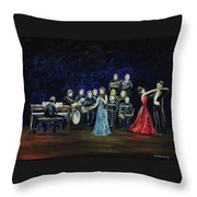 Allen Myers' Jazz Orchestra Throw Pillow