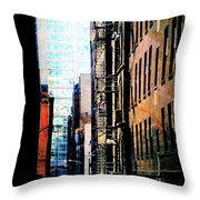 Alley Abstract #2 Throw Pillow