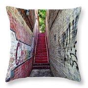 Alley At Chapelhill Throw Pillow