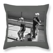 Alley Cats Throw Pillow