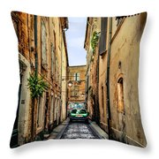 Alley In Avignon Throw Pillow