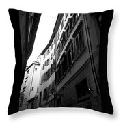 Alley In Florence Throw Pillow