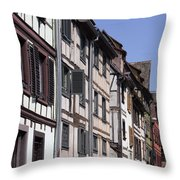 Alley In La Petite France Throw Pillow