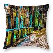 Alley In Uptown Chicago Dsc2687 Throw Pillow