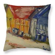 Alley In Winter  Throw Pillow