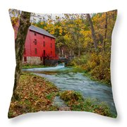 Alley Mill In Autumn Throw Pillow