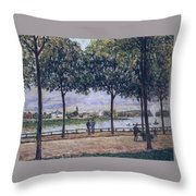Alley Of Chestnut Trees Throw Pillow