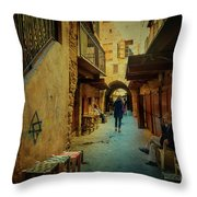 Alley Of Old Sidon Throw Pillow