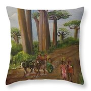 Alley Of The Baobabs Throw Pillow