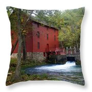 Alley Sprng Mill 3 Throw Pillow by Marty Koch