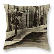 Alley Stroll II Throw Pillow