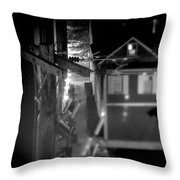 Alley To High Throw Pillow