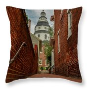 Alley View Throw Pillow