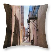 Alley W Guy Reading Throw Pillow