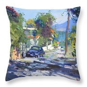 Alleyway By Lida's House Greece Throw Pillow