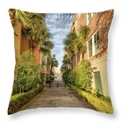 Alleyway In Chaleston Throw Pillow