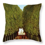 Alleyway In The Park Throw Pillow