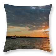 Alliance Sunset Sail Throw Pillow