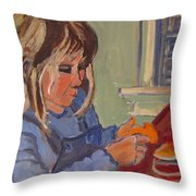 Allie And Play Dough Throw Pillow