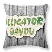 Alligator Bayou Throw Pillow by Scott Pellegrin