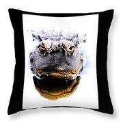 Alligator Fangs 2 Throw Pillow